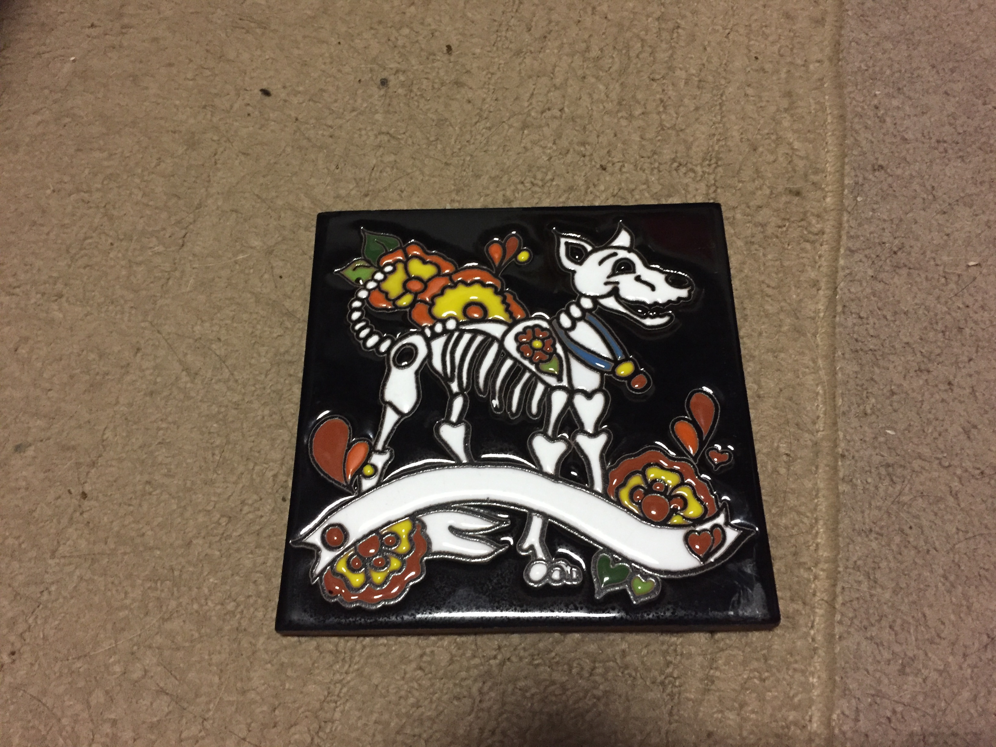 16 the mysteries of misty gypsyjudge then i bought a day of the dead ceramic tile its a very happy dead dog i bought it because it makes me laugh dailygadgetfo Images